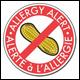 Étiquette Alerte à l'allergie - arachide