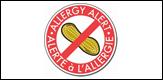 Étiquette en vinyle « Allerte à l'allergie »