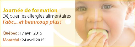 Post image for Une journée pour déjouer les allergies alimentaires