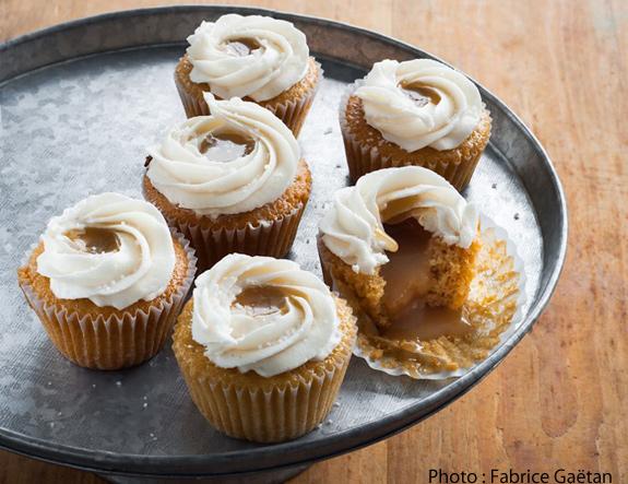 Post image for Cupcakes à la vanille et au caramel salé