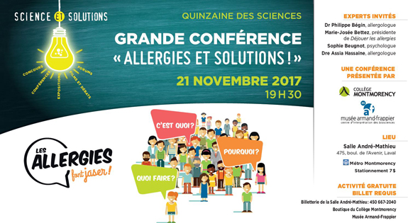 Post image for Conférence « Allergies et solutions! »